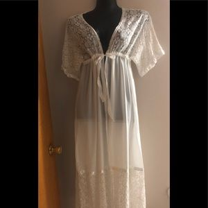 Maxi floor length cover-up